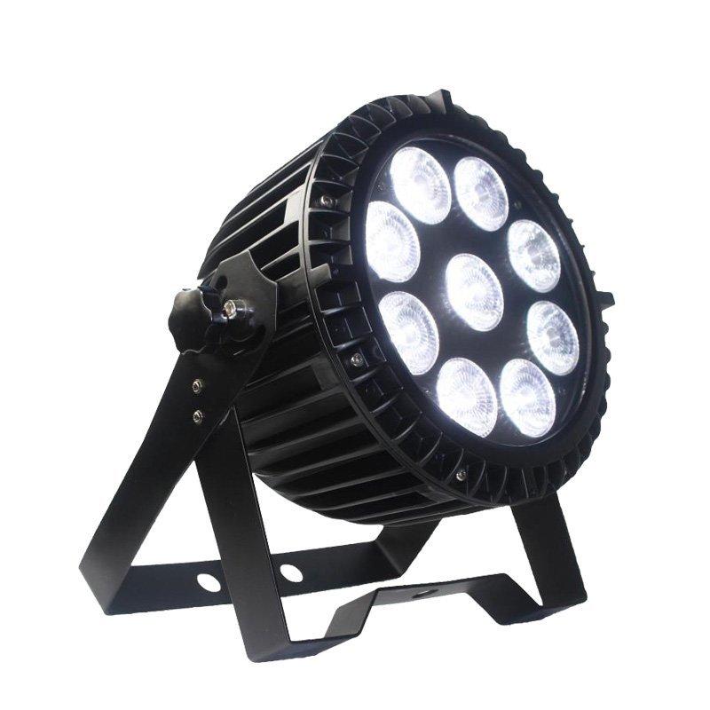 HC-036  9PCS 8W RGBW 4in1 Waterproof Flat Par Can