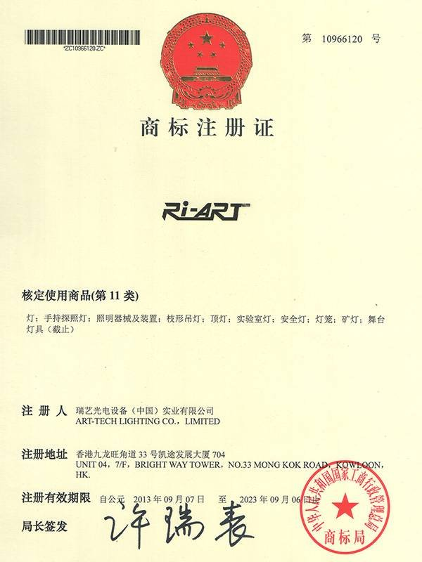 Trademark registration certificate 2